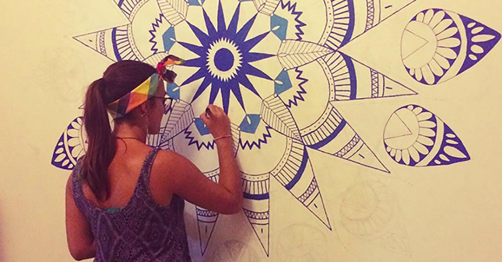 Création de mandala mural